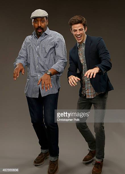 CW's 'The Flash' actors Jesse L Martin and Grant Gustin pose for a portrait during the CW and Showtime's 2014 Summer TCA Tour at The Beverly Hilton...