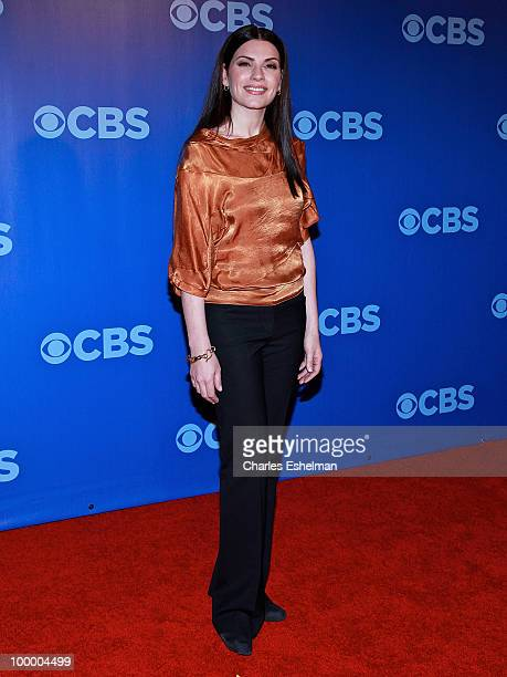 CBS's The Good Wife actress Julianna Margulies attends the 2010 CBS UpFront at Damrosch Park Lincoln Center on May 19 2010 in New York City