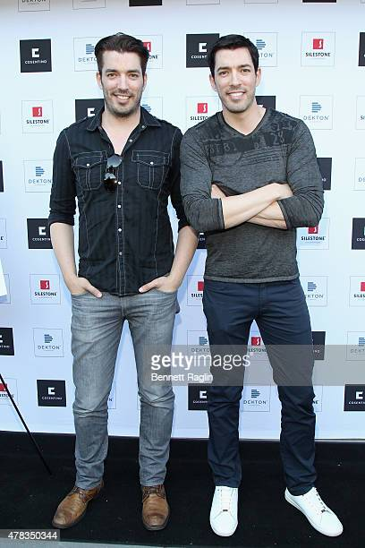 HGTV's The Property Brothers Jonathan and Drew Scott attend the America's Most Desperate Kitchens Premiere Party at Carrino Provisions on June 24...