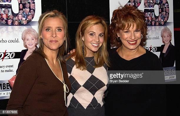 ABC's The View cohosts Meredith Vieira Elisabeth Hasselbeck and Joy Behar arrive to the celebration in honor of Barbara Walters and 25 years of 20/20...