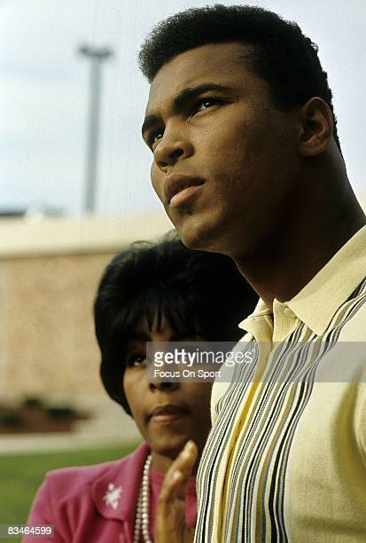 CIRCA 1960's The young Heavyweight Champion Muhammad Ali with his wife circa late 1960's