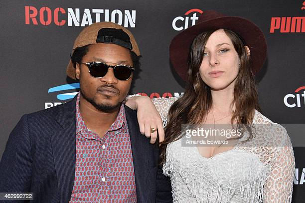 DJ's Theo Spielberg and Sasha Spielberg of Wardell arrive at the Roc Nation Grammy Brunch 2015 on February 7 2015 in Beverly Hills California