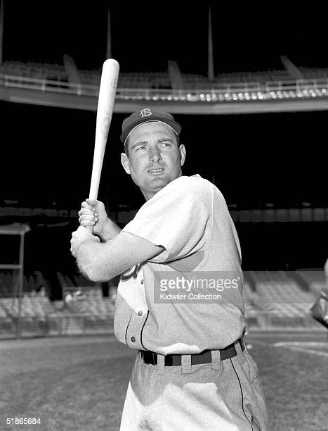 BRONX NY 1950's Third baseman George Kell of the Detroit Tigers poses for an action portrait prior to a game circa 1950's against the New York...