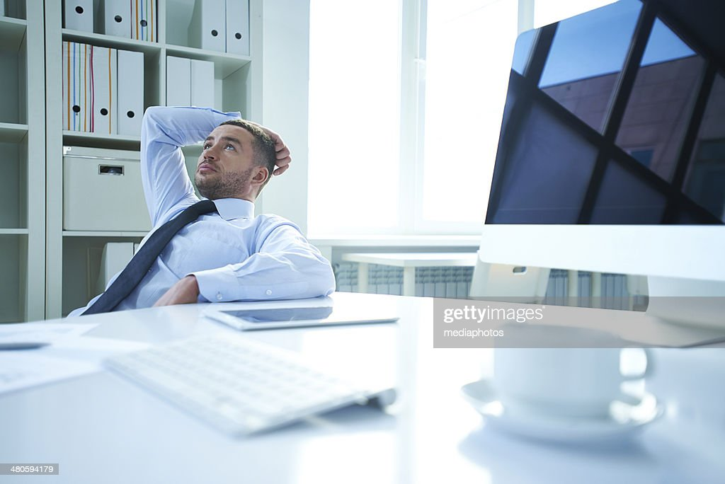 CEO's thoughts : Stock Photo