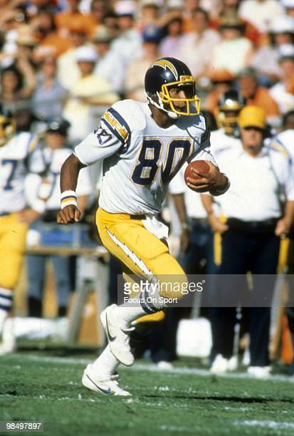 CIRCA 1980's Tight End Kellen Winslow of the San Diego Chargers in action circa early 1980's during an NFL football game Winslow played for the...