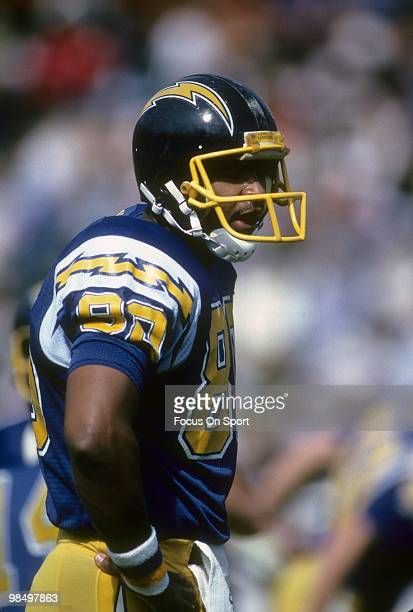 SAN DIEGO CA CIRCA 1980's Tight End Kellen Winslow of the San Diego Chargers in this portrait circa early 1980's during an NFL football game at Jack...