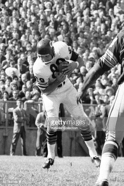 MILWAUKEE WI 1960's Tight end Mike Ditka of the Chicago Bears catches a pass during a game in the 1960's against the Green Bay Packers in Milwaukee...