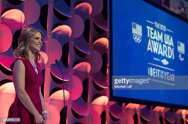 NBC's Today Show coanchor Natalie Morales hosts the Team USA awards presented by Dow best of the year on December 10 2015 at the University of...