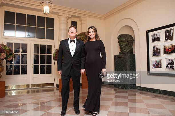 NBC's Today Show cohost Savannah Guthrie and her husband Michael Feldman arrive at the White House in Washington DC USA on 18 October 2016 for the...