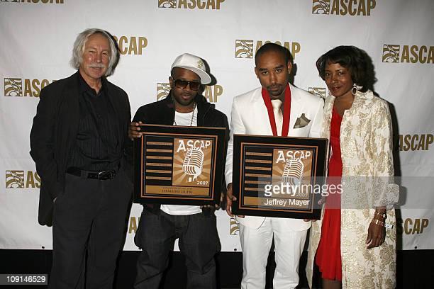 ASCAP's Todd Brabec Jermaine Dupri Johnta Austin and ASCAP's Jeanie Weems