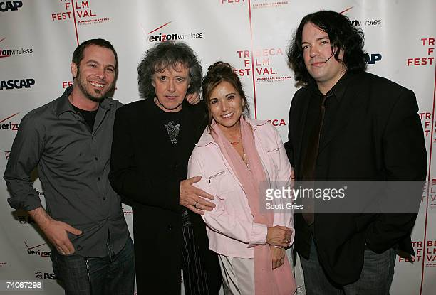 ASCAP's Tom Desavia musician Donovan ASCAP's Loretta Munoz and musician John Auer pose at the ASCAP Tribeca Music Lounge held at the Canal Room...