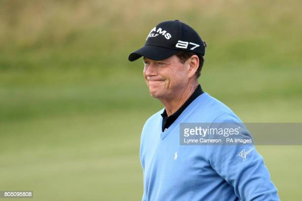 S Tom Watson during the fourth round of the Open Championship 2009 at Turnberry Golf Club, Ayrshire.