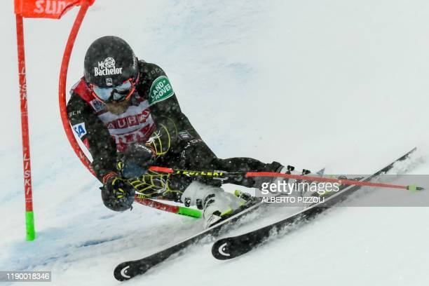 S Tommy Ford competes in the Men's Giant Slalom of the FIS Alpine World Cup on December 22, 2019 in Alta Badia, Dolomites.
