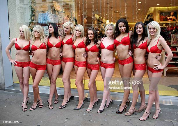 S Top Ten High Street Honeys during FHM's High Street Honeys - Photocall at La Senza in London, Great Britain.