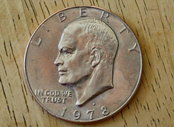 1970's US silver dollar depicting President Dwight David Eisenhower
