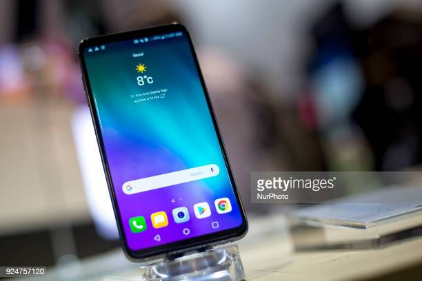 LG's V30 smartphone Thousands of people participate in the Mobile World Congress 2018 in Barcelona Spain from February 26 to March 1 2018