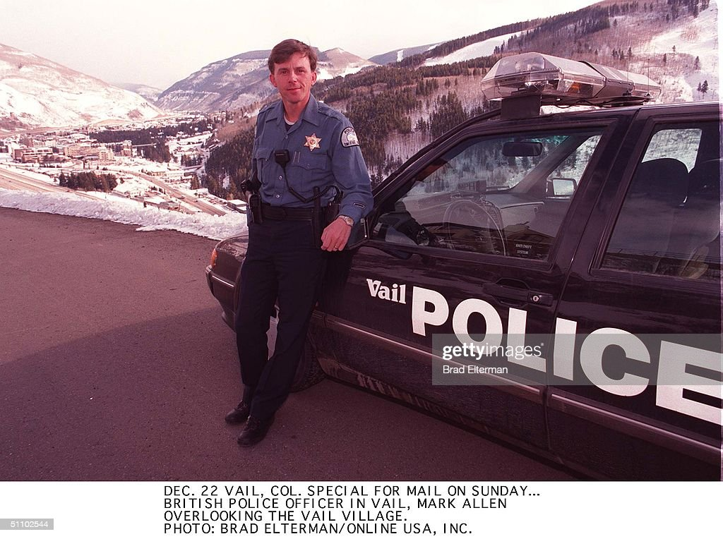 Vail Co Special For Mail On Sunday A British Police Officer In Vail Mark Allen Over : News Photo
