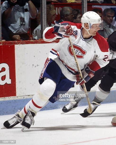 MONTREAL 1990's Vincent Damphousse of the Montreal Canadiens skates in the 1990's at the Montreal Forum in Montreal Quebec Canada Damphousse played...