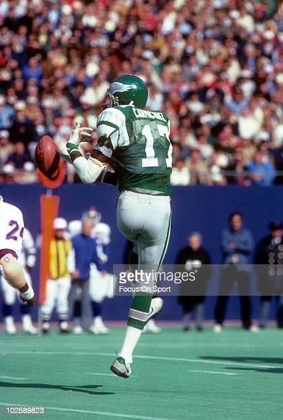 RUTHERFORD NJ CIRCA 1970's Wide Receiver Harold Carmichael of the Philadelphia Eagles goes after a pass against the New York Giants circa late 1970's...
