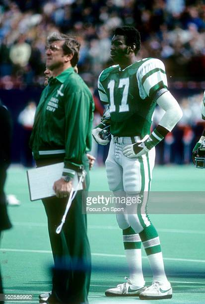 PHILADELPHIA PA CIRCA 1970's Wide Receiver Harold Carmichael of the Philadelphia Eagles in this portrait watching the action from the sidelines circa...