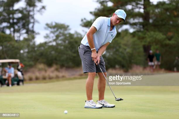 UNC's William Register on the 7th green The second round of the Tar Heel Intercollegiate Men's Golf Tournament was held on October 7 at the UNC...