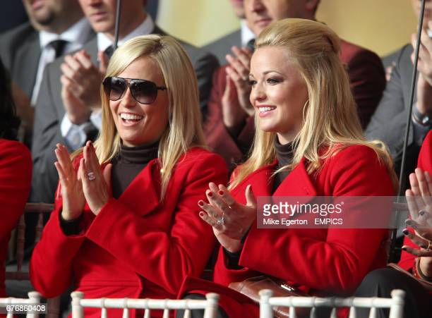 USA's wives Amy Mickelson and Kandi Harris at the opening ceremony