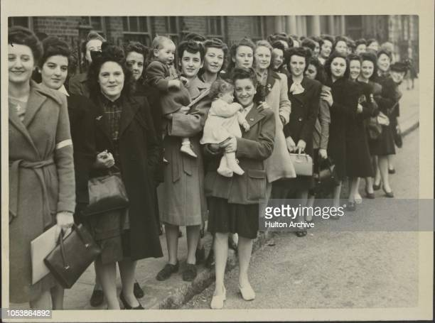 S Wives in Grosvenor Square, After more 'discussion' the G.I. Brides met again this morning in Grosvenor Square. They are demanding speedier...
