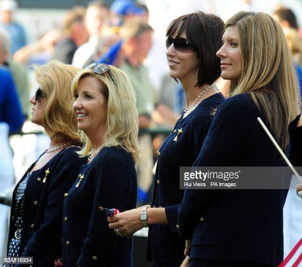 USA's wives Toni Azinger Amy Mickelson Lisa Cink and Sandy Perry during The Opening Ceremony at Valhalla Golf Club Louisville USA