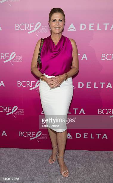 BCRF's Women's Cancer Research Fund cofounder Rita Wilson attends 'The Breast Cancer One Dinner' hosted by Delta Air Lines and The Breast Cancer...