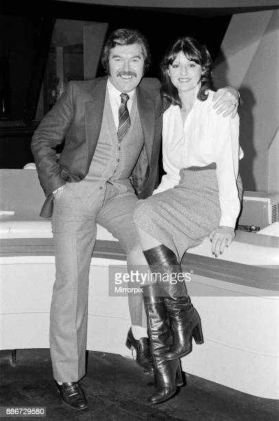 S 'World of Sport' presenter Dickie Davies with his new director Patricia Mordecai. London Weekend Television Studios, London, 2nd January 1979.