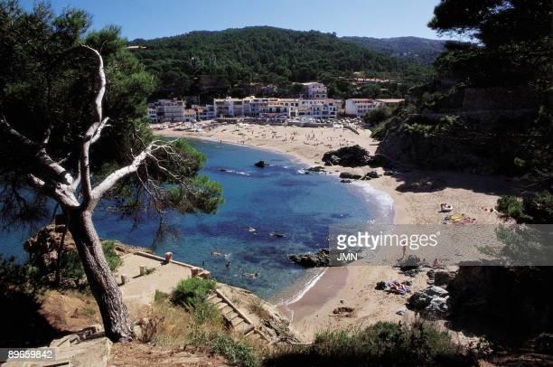 Sa Riera beach Panoramic view of Sa Riera beach Gerona province