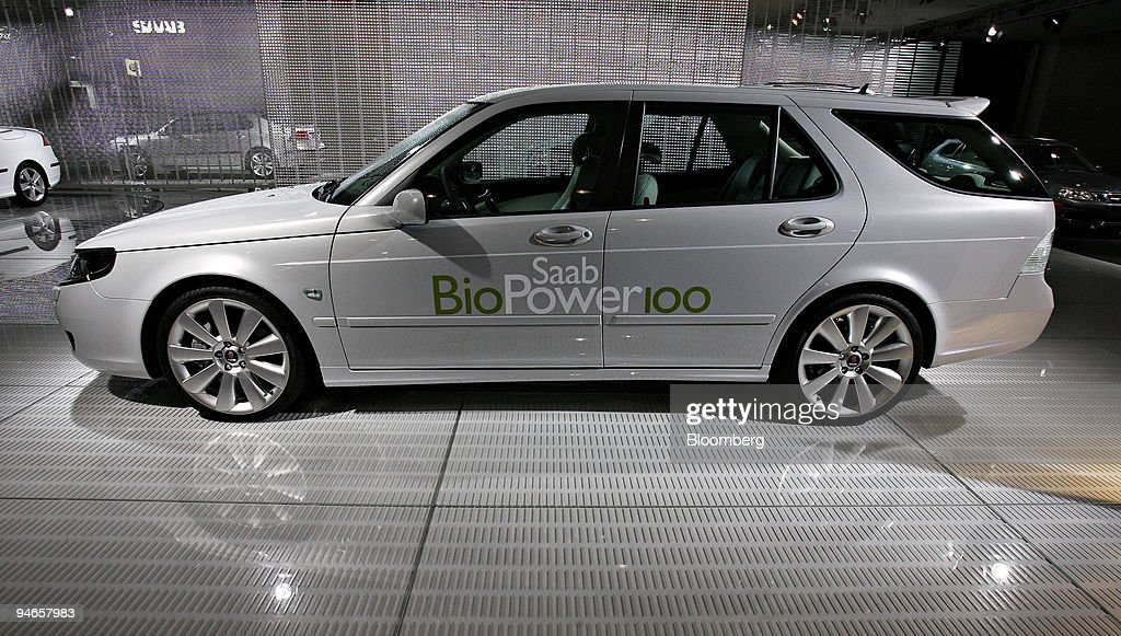 A Saab Biopower 100 Concept Sits On Display During The New Y