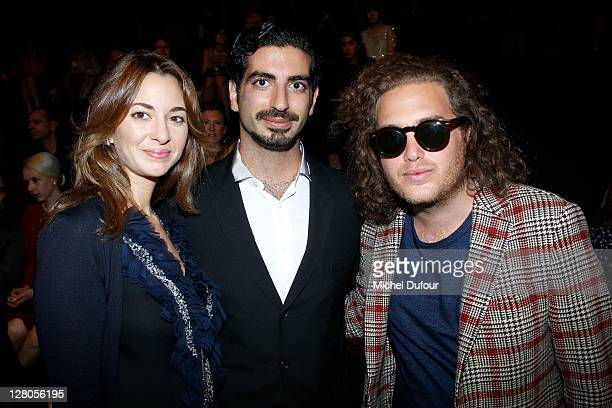 Saad Hariri and his wife and David Wertheimer attend the Elie Saab Ready to Wear Spring / Summer 2012 show during Paris Fashion Week at Espace...
