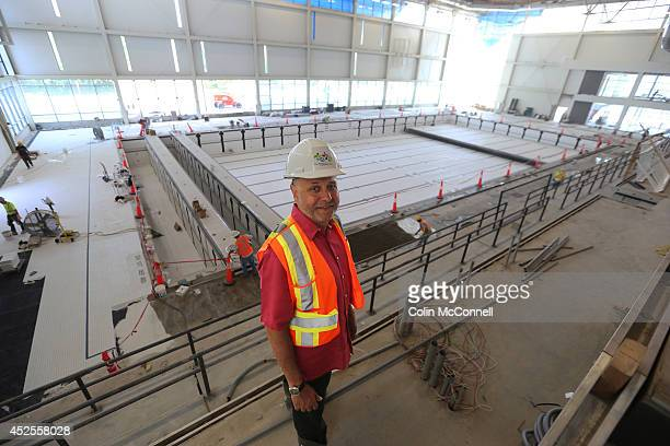 TORONTO ON JULY 22 Saad RasiCEOof Toronto 2015 PanAm Games in front of large pool Tour of new Pan Am Games facilityAtos Markham Pan Am Centre in...