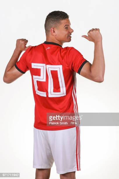 Saad Samir of Egypt poses for a portrait during the official FIFA World Cup 2018 portrait session at The Local Hotel on June 11, 2018 in Gronzy,...