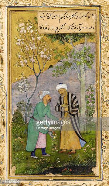 Saadi in a Rose Garden 1645 From a manuscript of the Gulistan by Saadi Saadi was a Persian poet of the 13th century Found in the collection of the...