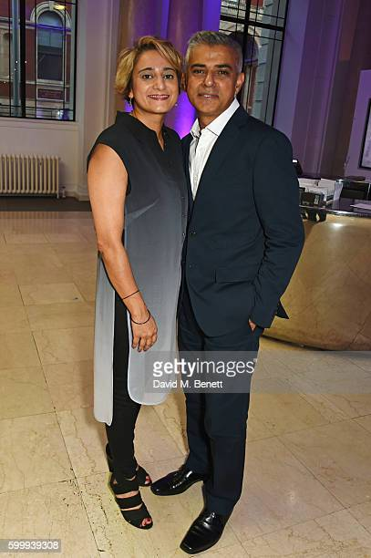 Saadiya Khan and Sadiq Khan attend The London Evening Standard's 'Progress 1000 London's Most Influential People 2016' in partnership with Citi at...