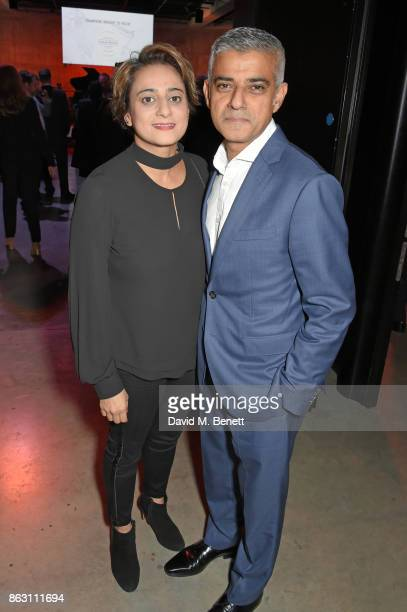 Saadiya Khan and Sadiq Khan attend The London Evening Standard's Progress 1000 London's Most Influential People in partnership with Citi on October...