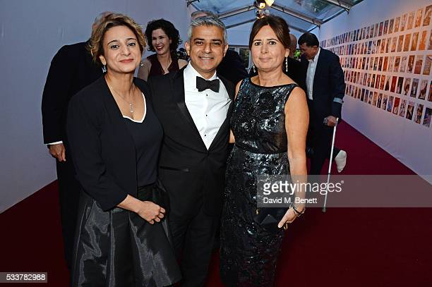 Saadiya Khan Mayor of London Sadiq Khan and British Vogue editor Alexandra Shulman attend British Vogue's Centenary gala dinner at Kensington Gardens...