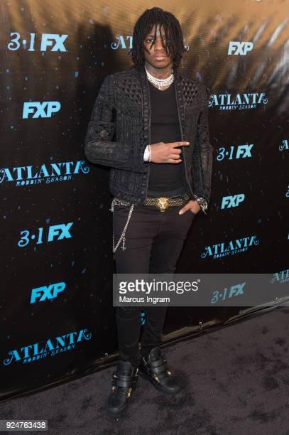 Saaheem Valdery attends the 'Atlanta Robbin' Season' Atlanta premiere at Starlight Six Drive on February 26 2018 in Atlanta Georgia