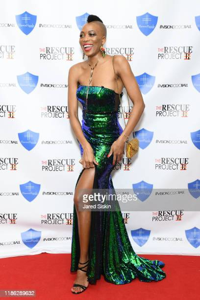 Saahmeé and guest attend The 3rd Annual Vision 2020 Ball By The Rescue Project Haven Hands Inc Brought To You By AMAZZZING HUMANS at 4W43 on November...