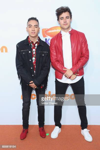Saak and Jorge Blanco attend the Nickelodeon Kids' Choice Awards Mexico 2017 at Auditorio Nacional on August 19 2017 in Mexico City Mexico
