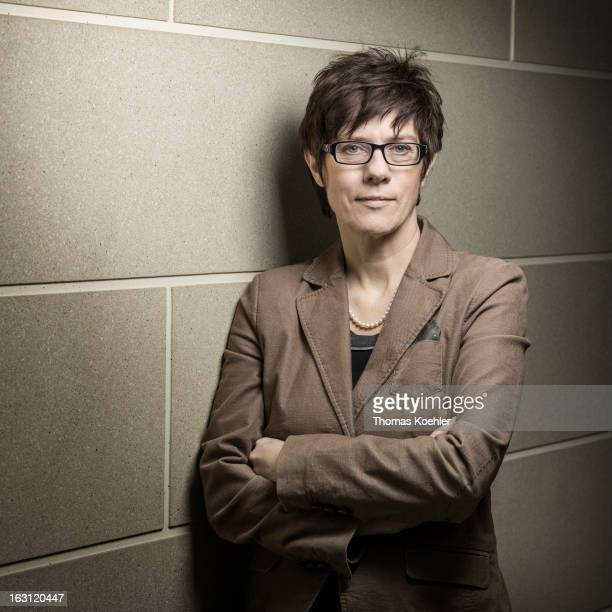 Saar Governor Annegret KrampKarrenbauer poses for a picture on February 28 2013 in Berlin Germany