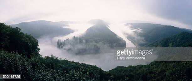 Saar River in the fog