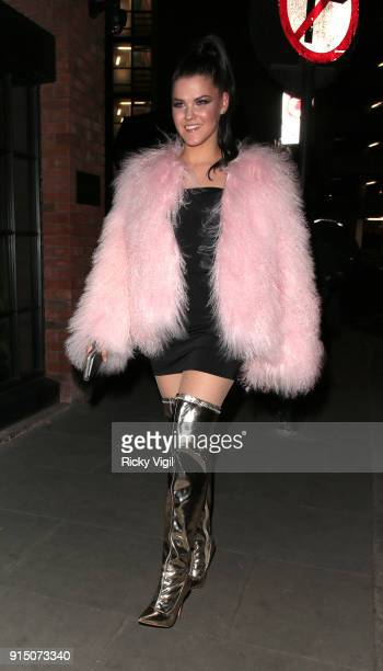 Saara Aalto attends Fabulous tenth anniversary party at The Curtain on February 6 2018 in London England