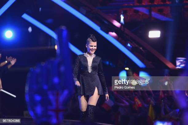 Saara Aalto from Finland at Altice Arena on May 12 2018 in Lisbon Portugal
