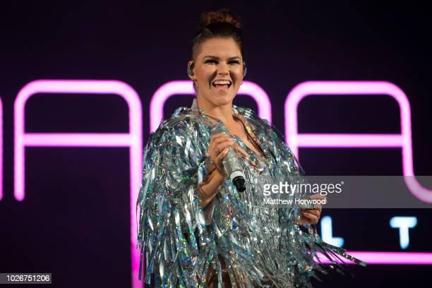 Saara Aalto performs during the Pride Cymru Big Weekend on August 25 2018 in Cardiff Wales Pride Cymru aims to eliminate discrimination on the...