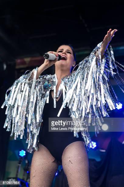 Saara Aalto performs on stage at Bristol Pride on July 8 2017 in Bristol England