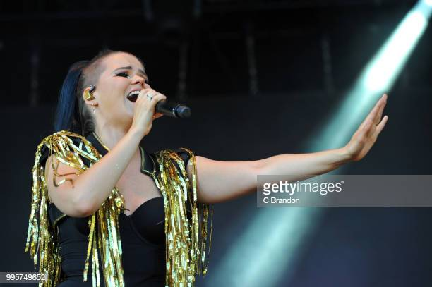 Saara Aalto performs on stage during Day 1 of Kew The Music at Kew Gardens on July 10 2018 in London England