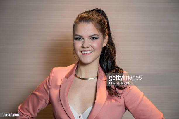 Saara Aalto representing Finland during the London Eurovision Party 2018 held at Cafe de Paris on April 5 2018 in London England
